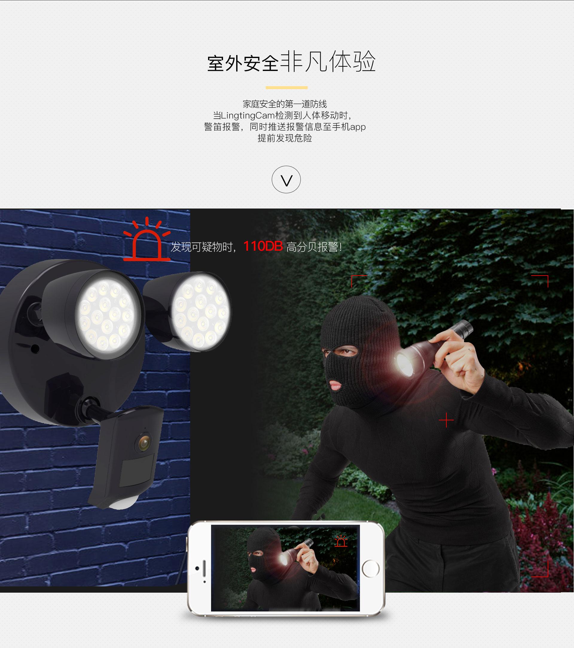 智能摄像泛光灯