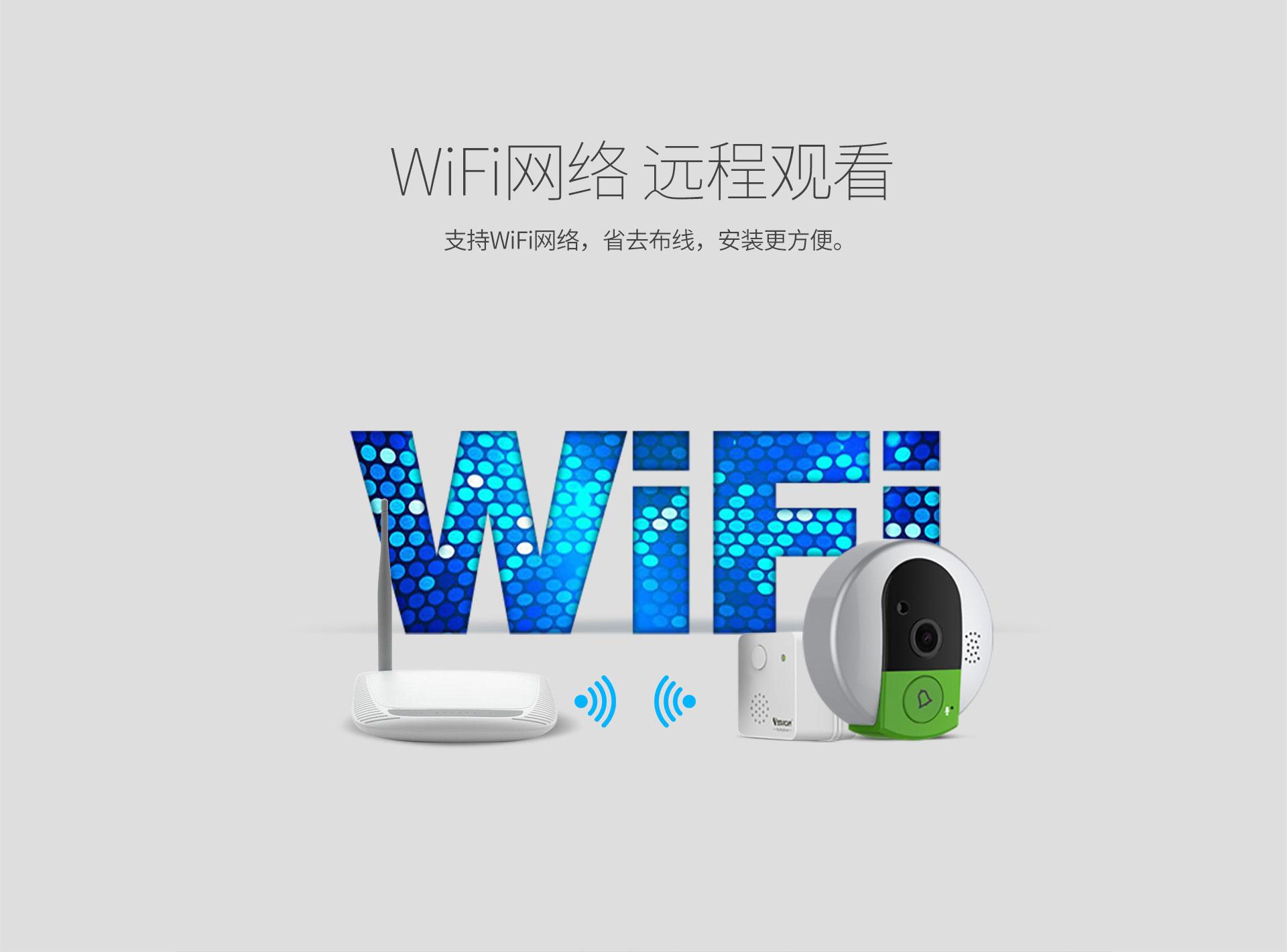 智能Wi-Fi可视门铃