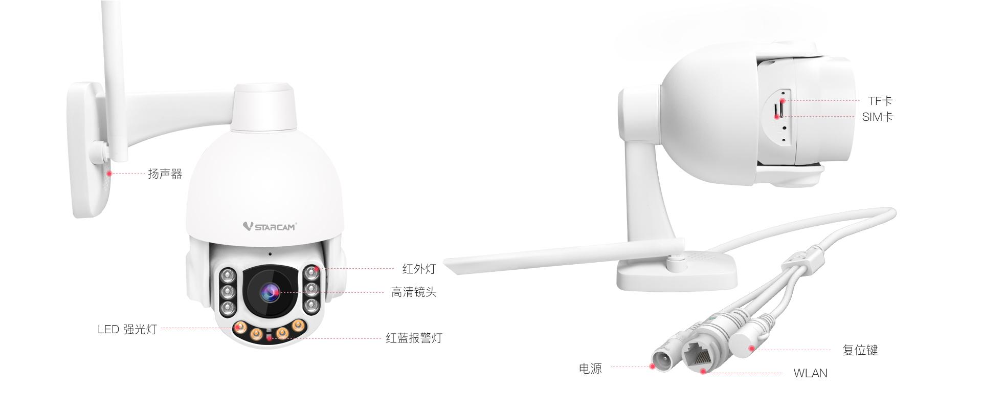 4G监控摄像头